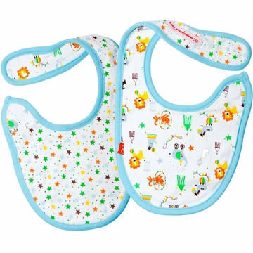 Magnificent Baby 2-Ply Bibs - Boy's Circus / Stars