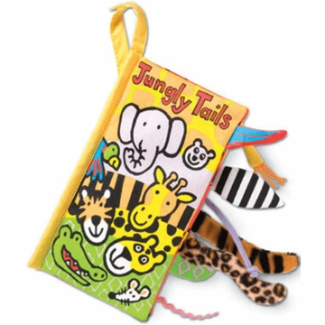 "Jellycat 8"" Jungly Tails Plush Book"