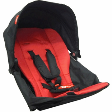 Phil & Teds Explorer Double Kit with Sunhood in Red