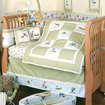KidsLine Savannah 6 Piece Crib Bedding Set