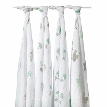 Aden + Anais Muslin Wraps 4-Pack - Up Up and Away