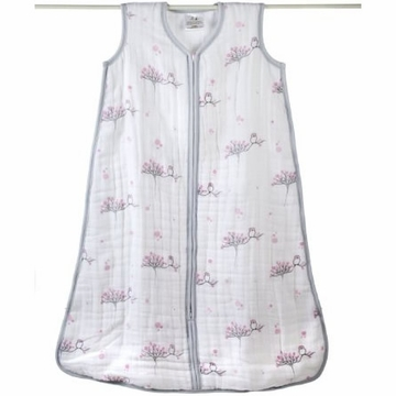 Aden + Anais Muslin Cozy Sleeping Bag - For the Birds - Owls - Small