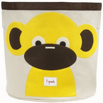 3 Sprouts Storage Bin in Monkey Yellow