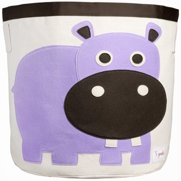 3 Sprouts Storage Bin in Hippo Purple