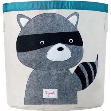 3 Sprouts Storage Bin in Raccoon Grey