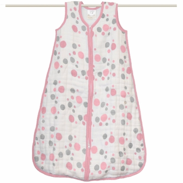 Aden + Anais Muslin Cozy Sleeping Bag - Star Light - Pink Spots - Small