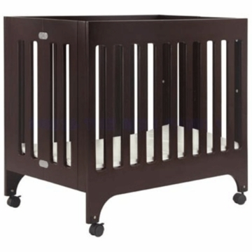 Babyletto Grayson Mini Crib in Espresso with Pad