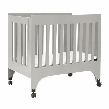 Babyletto Grayson Mini Crib in Grey with Pad