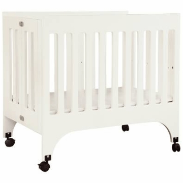 Babyletto Grayson Mini Crib in White with Pad