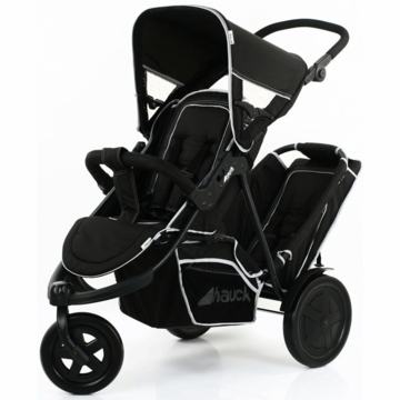 Hauck FreeRider Stroller with Second Seat & Car Seat Adapter in Black