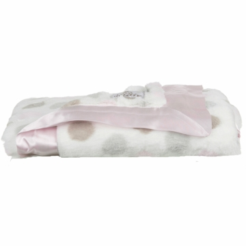Little Giraffe Luxe Dot Baby Blanket in Pink