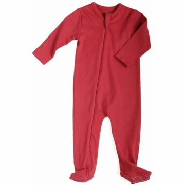 EGG Organic Basic Romper in Cherry - 6 to 12 Months