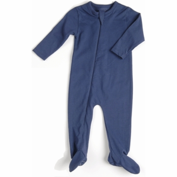 EGG Organic Basic Romper in Navy - 3 to 6 Months
