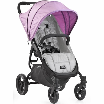 Valco Snap 4 Stroller and Hood - Silver/Lilac