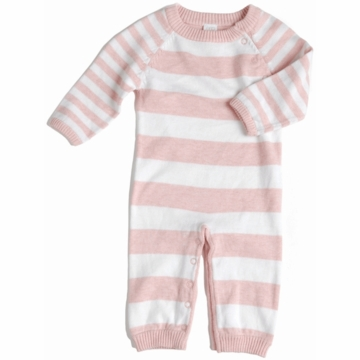 EGG Striped Knit Romper in Pink - 3 to 6 Months