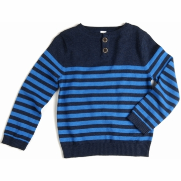 EGG Striped Knit Sweater in Navy - 3 to 6 Months