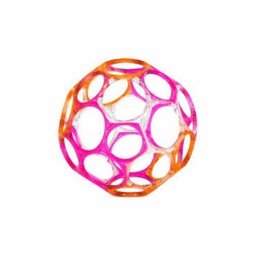 Oball Jellies - Clear/Pink/Orange