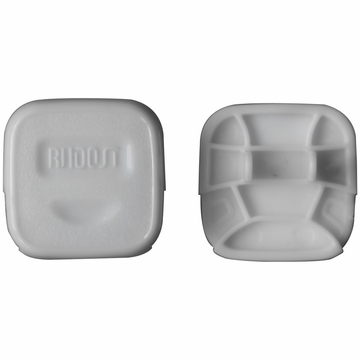 Rhoost Decoy Outlet Cover in White-12 Pack