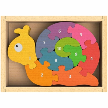 BeginAgain Number Snail Puzzle