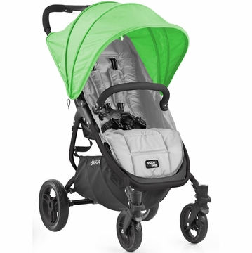 Valco Snap 4 Stroller and Hood - Silver/Apple