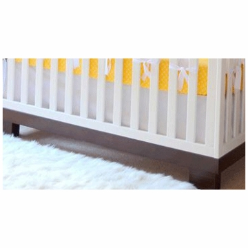 Oliver B Pure White Flat Panel Crib Skirt