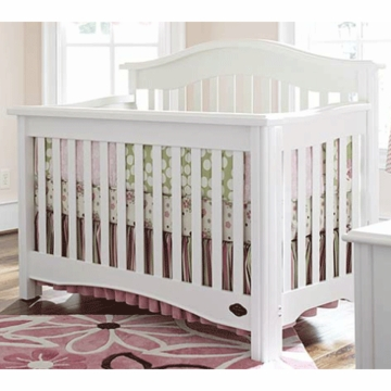 Bonavita Lifestyle Hudson 2 Piece Nursery Set in Lifestyle White - Crib & Double Dresser