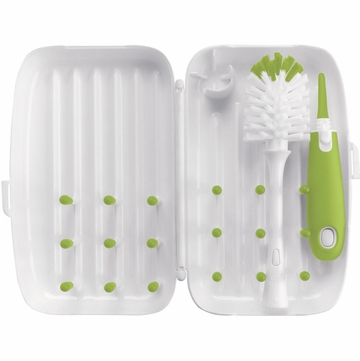 OXO Tot On-The-Go Drying Rack and Bottle Brush - Green