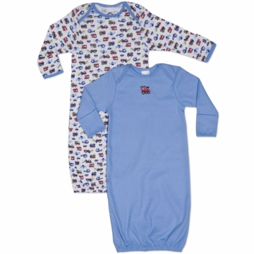 Gerber Boy 2 Pack Baby Lap Shoulder Gown
