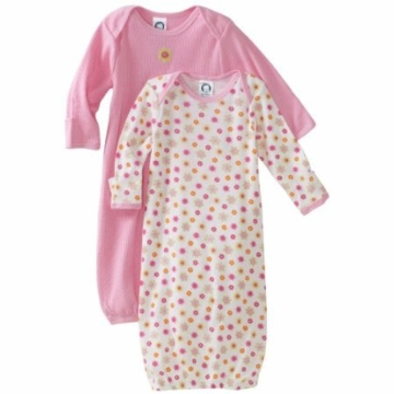 Gerber Girl 2 Pack Baby Lap Shoulder Gown