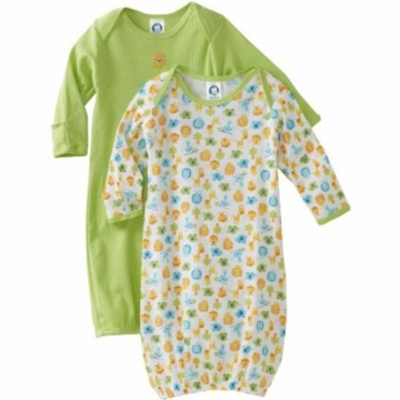 Gerber Unisex 2 Pack Baby Lap Shoulder Gown