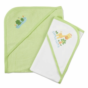 Gerber Unisex 2 Pack Terry Hooded Towel Set