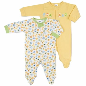 Gerber Unisex 2 Pack Baby Zip Front Sleep 'N Play - Newborn
