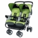 Peg Perego 2010 Aria Twin 60/40 Double Stroller in Kiwi
