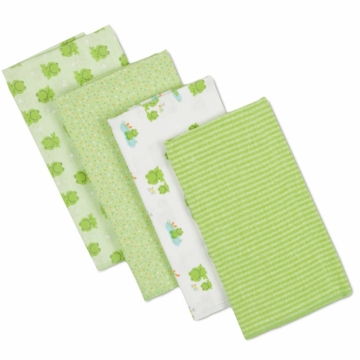 Gerber Unisex 4 Pack Flannel Burp Cloths