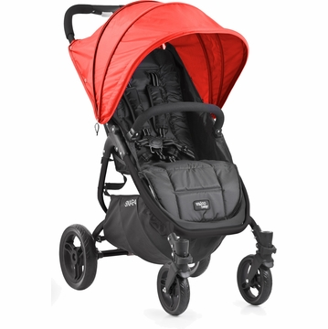 Valco Snap 4 Stroller and Hood - Black/Cherry