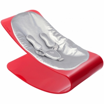 Bloom Coco Plexistyle Coco Rosso Baby Lounger in Lunar Silver