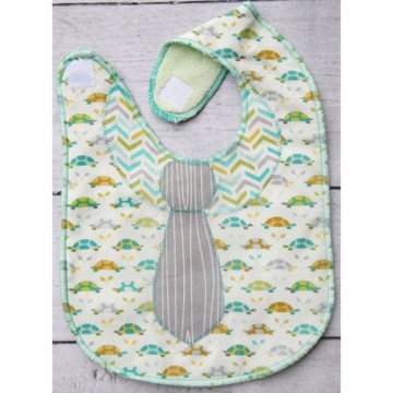 Caden Lane Toddler Bib - Slow Turtle (Limited Edition)