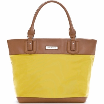 Perry Mackin Alexis Diaper Bag in Lemon