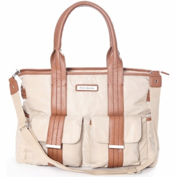 Perry Mackin Zoey Diaper Bag in Cream