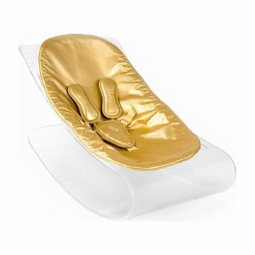 Bloom Coco Plexistyle Transparent Frame Baby Lounger in Solar Gold