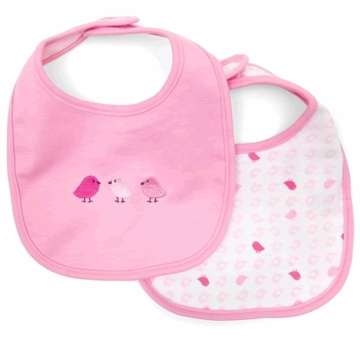 Petit Lem Dual Pack Knit Bib - Small Birds