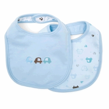 Petit Lem Dual Pack Knit Bib - Small Cars
