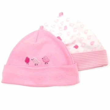 Petit Lem Dual Pack Knit Hat - Small Birds