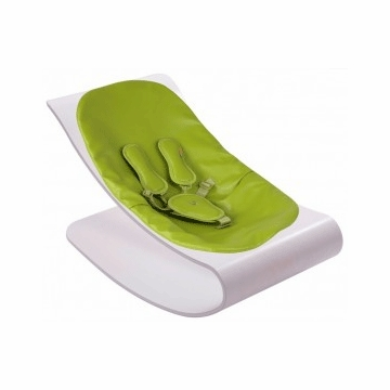 Bloom Coco Plexistyle White Frame Baby Lounger in Gala Green
