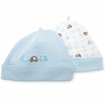Petit Lem Dual Pack Knit Hat - Small Cars