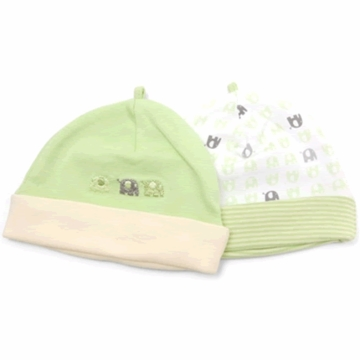 Petit Lem Dual Pack Knit Hat - Small Elephants