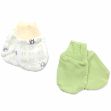 Petit Lem Dual Pack Knit Mitt - Small Elephants