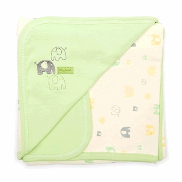 Petit Lem Knit Blanket - Green Elephant