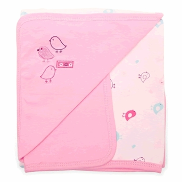 Petit Lem Knit Blanket - Pink Birds