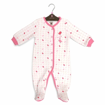 Petit Lem Knit Footie Sleeper - Small Birds - Newborn